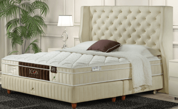 ICON Luxury Latex mattress by GETHÁ King available at The Back and Neck Bed Shop