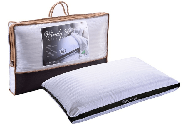 Getha Latex Pillow Windy 360 available at The Back and Neck Bed Shop in Perth