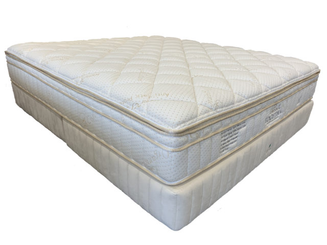 Side angle of the King Togetha 100 Natural Latex Mattress by GETHA available online and in-store at The Back and Neck Bed Shop