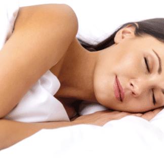 Woman sleeping on 7.5 Queen Memory Foam Mattress Topper from MLILY
