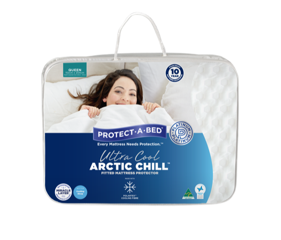 Arctic Chill Waterproof Mattress Protector available at The Back and Neck Bed Shop in Perth