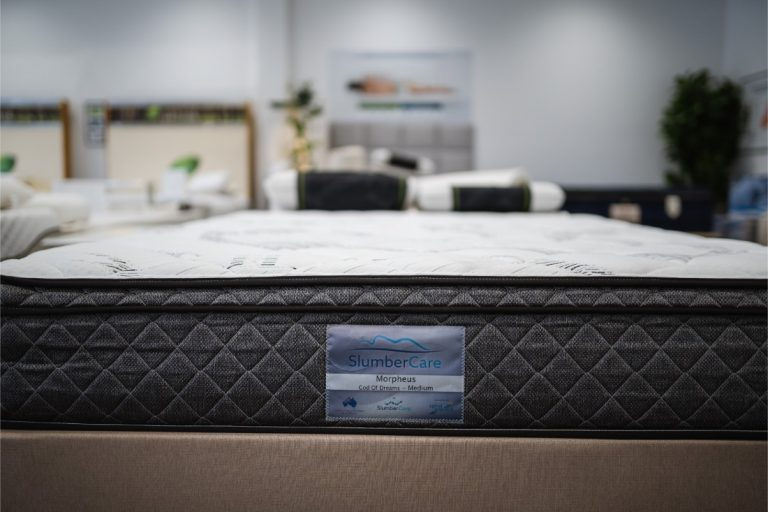 Certificate on the Slumbercare Morpheus Medium Mattress available online and in-store at The Back and Neck Bed Shop