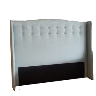 Tuscan Headboard in Warwick Vegas Seafoam Ocean by Lounge Innovations available online and in-store at The Back and Neck Bed Shop