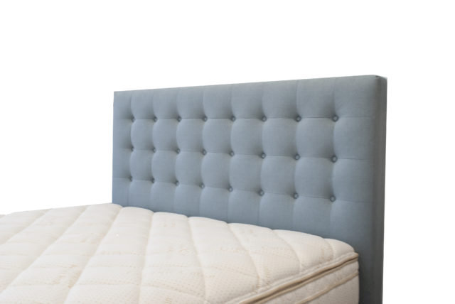 Regent Headboard in Warwick Vegas Seafoam by Lounge Innovations available online and in-store at The Back and Neck Bed Shop
