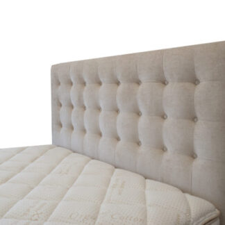 Regent Headboard in Warwick Imperial Chalk by Lounge Innovations available online and in-store at The Back and Neck Bed Shop