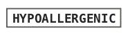 Hypoallergenic logo