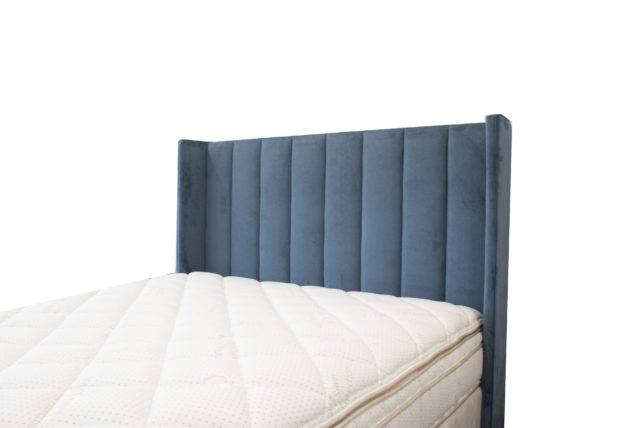 Trend Headboard in Warwick Regis Ocean by Lounge Innovations available online and in-store at The Back and Neck Bed Shop