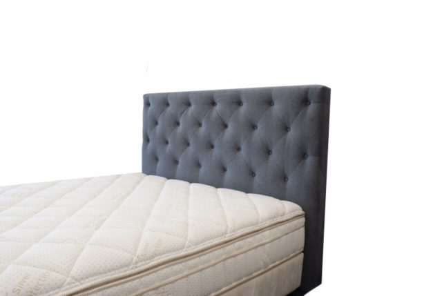 Diamond Headboard in Warwick Regis Storm by Lounge Innovations available online and in-store at The Back and Neck Bed Shop