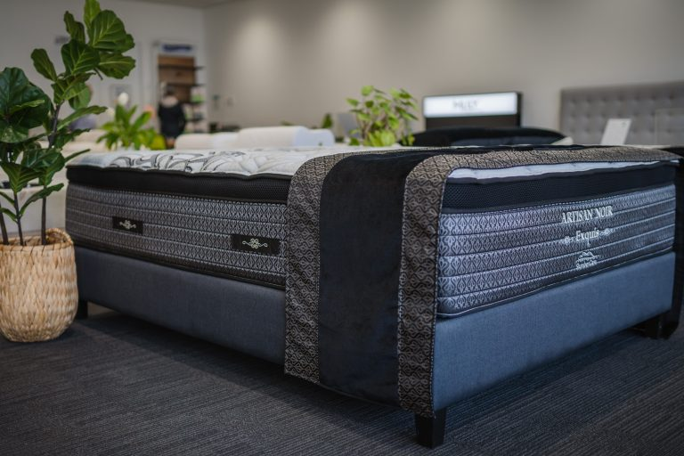 Slumbercorp Artisan Series Exquis Mattress in-store at The Back and Neck Bed Shop