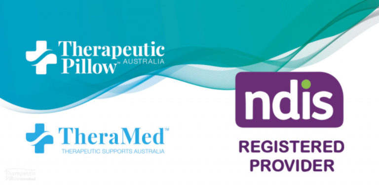 Therapeutic Pillow is a registered provider of therapeutic products for the National Disability Insurance Scheme (NDIS) banner