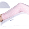 Woman using a Knee Wedge pillow