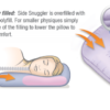 graphic info of a side snuggler body pillow